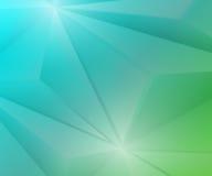 Poligon geometrischer grüner und blauer Steigungs-Hintergrund Lizenzfreies Stockbild