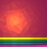 Poligon Light Effect Background. Set of Five Geometric Triangular Illustrations. Web Site Headers Royalty Free Stock Images