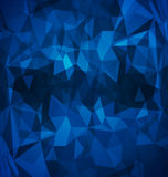 Poligonal azul abstracto Fotografía de archivo libre de regalías