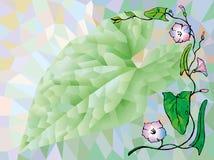Poligonal-Hintergrund von grünen und purpurroten Farben Lizenzfreie Stockfotografie