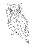 Poligonal owl silhouette. Stock Image