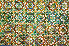 Poligonal patterns in Alhambra stock photography