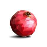 Poligonal pomegranate on white background Stock Photos