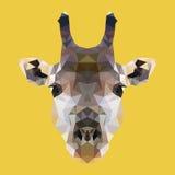 Poligonalna żyrafa, wieloboka geometryczny zwierzę, wektorowa ilustracja Obraz Royalty Free