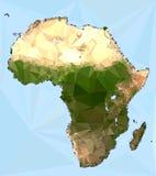 Poligonalna Afryka mapa Obraz Stock