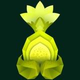 Poligonalna ilustracja cytryna z kwiatem Obrazy Royalty Free