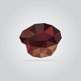 Poligonalna słodka bułeczka ilustracja Obrazy Royalty Free