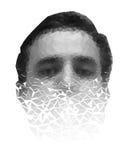 Poligonalna twarz mężczyzna rozdrabnianie kawałki Zdjęcie Stock