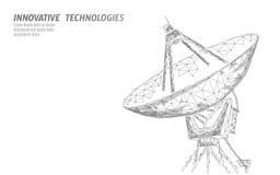 Poligonalnego radarowej anteny przestrzeni defence technologii abstrakcjonistyczny pojęcie Skanować wykrywa militarnego niebezpie royalty ilustracja