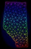 Poligonalnej 2D tęczy siatki Wektorowa mapa Alberta prowincja ilustracja wektor