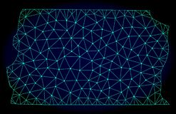 Poligonalnej drut ramy siatki Wektorowa Abstrakcjonistyczna mapa Brazylia, Distrito Federacyjni - ilustracji
