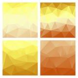 Poligonalni wektorowi tła Set barwioni wektorów wzory w geometrycznym stylu ilustracji