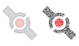 Poligonalny ścierwo siatki włącznik i mozaiki ikona ilustracji