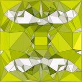 Poligonalny abstrakcjonistyczny świeży wzór w żółtym i białym ilustracji
