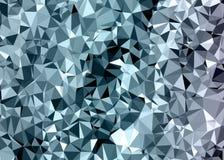 Poligonalny abstrakcjonistyczny tło, niski poli-, szarość i błękitna błyskotliwość, ilustracji