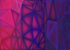 Poligonalny abstrakcjonistyczny tło, niska poli- menchia purpury ilustracja wektor