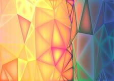 Poligonalny abstrakcjonistyczny tło, niski poli- kolorowy ilustracja wektor