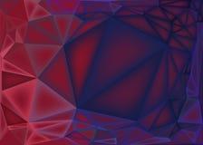 Poligonalny abstrakcjonistyczny tło, niskie poli- menchie i purpura gradient, ilustracja wektor