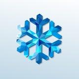 Poligonalny boże narodzenie płatek śniegu. Wektorowa ilustracja ilustracji