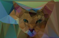 Poligonalny czerwony kot również zwrócić corel ilustracji wektora Fotografia Stock