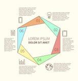 Poligonalny infographic diagram Fotografia Stock