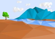 Poligonalny krajobraz Zdjęcia Stock