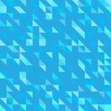 Poligoni geometrici dei triangoli di forme del fondo della carta da parati modernista blu del modello Fotografie Stock Libere da Diritti