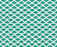 Poligoni regolarmente spaziati di verde smeraldo Fotografie Stock