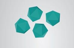 Poligono astratto di origami  Fotografia Stock