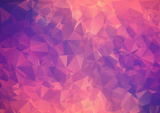 Poligono astratto rosa porpora del fondo. Immagine Stock