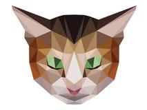 Poligono basso del gatto di Brown Immagine Stock