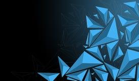 Poligono blu Immagini Stock