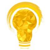 Poligono della lampadina della luce gialla Immagini Stock Libere da Diritti