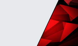 Poligono rosso con la copertura grigia Fotografia Stock