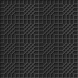 Poligono trasversale di arte 3D del controllo di carta scuro elegante senza cuciture del modello 316 Immagini Stock Libere da Diritti