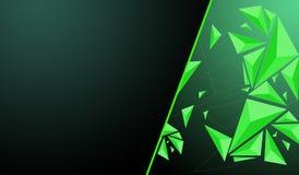 Poligono verde Fotografia Stock Libera da Diritti