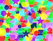 Poligons vivid colors land Royalty Free Stock Images