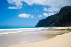 Polihale国家公园,夏威夷 免版税图库摄影