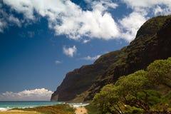 Polihale海滩,考艾岛,夏威夷 免版税库存图片