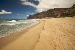 Polihale Beach, Kauai Royalty Free Stock Image