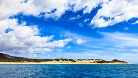 Polihale Beach. Oceanside view of Polihale Beach - the longest beach on the island of Kauai Stock Photo