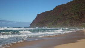 Polihale State Park stock video footage