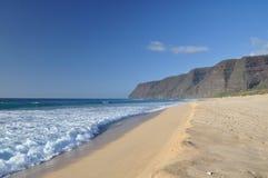 Polihale Strand, Kauai, Hawaii stockbild