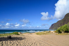 Polihale stranddelstatspark - Kauai, Hawaii, USA Arkivbild