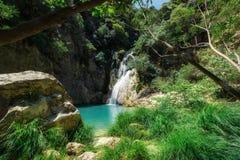 Polilimnio siklawa Peloponnese, Grecja - zdjęcia royalty free