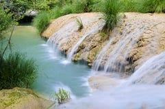 Polilimnio Wasserfall, Peloponnes, Griechenland stockfotografie