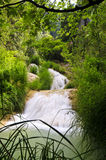 Polilimnio waterfall,peloponnese, greece Stock Photos