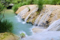 Polilimnio waterfall,peloponnese, greece Stock Photography
