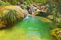 Polilimnio waterfalls Peloponnese Greece Royalty Free Stock Photos