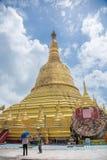 Polilla de Maha Chedi Choi a lo más prestigiosa en Bago, Myanmar Imagen de archivo